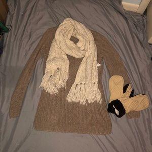 Brown Maurice's winter sweater